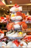 Fresh seafood in a seafood market Stock Photography