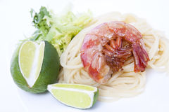 Fresh seafood, shrimp Stock Images
