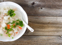 Fresh seafood soup dish ready to eat Stock Photos