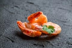 Fresh seafood on a stone Stock Photos