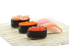 Fresh seafood sushi set Stock Photography