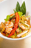 Fresh seafood thai salad Stock Photography