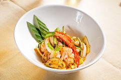 Fresh seafood thai salad Stock Images