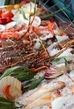 Fresh seafoods stock image