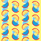 Fresh Seamless Citrus Pattern With Lemons Pieces Royalty Free Stock Photos