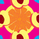 Fresh Seamless Fruit Citrus Pattern Royalty Free Stock Photo