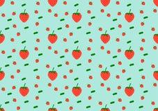 Fresh Seamless Pattern Strawberry Fruit. Background. Hand draw illustration royalty free illustration