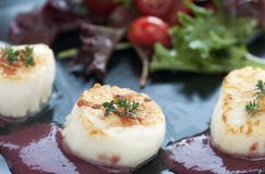 Fresh Seared Scallop Stock Photo