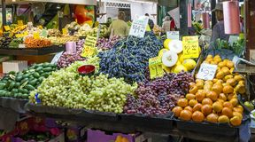 Fresh seasonal fruit for sale at the famous Adelaide Central Market, Southern Australia royalty free stock image
