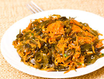 Fresh seaweed salad with carrot Stock Photography