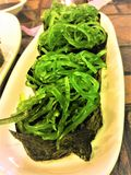Fresh seaweed salad sushi japan food. royalty free stock image