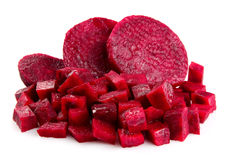Fresh segments of a beet Royalty Free Stock Photo
