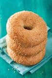 Fresh sesame bagel for breakfast Stock Photos