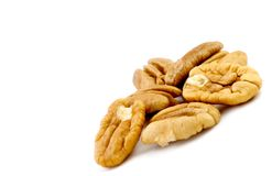 Fresh Shelled Pecans Stock Images