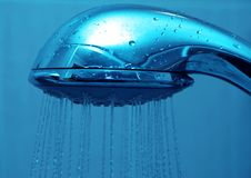 Fresh shower clean blue water Stock Image