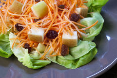 Fresh Shredded Carrots Salad Stock Photo