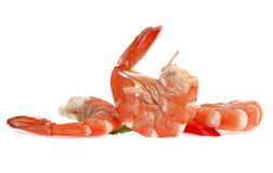 Fresh shrimp isolated on a white background Stock Photo