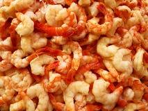 Fresh Shrimp in a Pile. Detail of pile fresh seafood shrimp for eating Stock Image