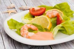 Fresh Shrimp Salad Stock Photo