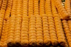Deeps Fried Crab Rolls or Hoi Jo royalty free stock photos