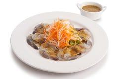 Fresh shrimp with wasabi Stock Photography