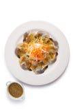 Fresh shrimp with wasabi Royalty Free Stock Images