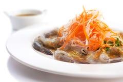 Fresh shrimp with wasabi Royalty Free Stock Photography