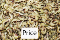 Fresh shrimps on the market Royalty Free Stock Images