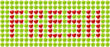 Fresh: sign made of apples Stock Images