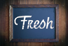 Fresh sign. Vintage Fresh sign, with room for your own message Royalty Free Stock Photography