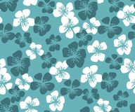 Fresh simple minimal floral vector seamless pattern. Spring blos. Som motif with sakura flowers for wedding projects, fabric and background, wrapping paper Stock Images