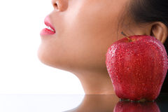Fresh skin and apple stock photography