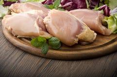 Fresh skinless chicken Stock Photos