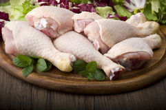 Fresh skinless chicken Stock Image