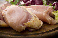 Fresh skinless chicken Stock Images
