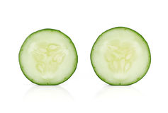 Fresh slice cucumber isolated on white background Stock Image