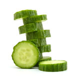Fresh slice cucumber Royalty Free Stock Image