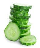 Fresh slice cucumber Royalty Free Stock Photo