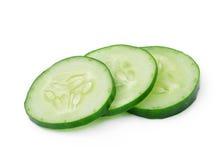 Fresh slice cucumber. On white background Stock Image