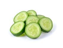 Fresh slice cucumber on white background. Fresh slice cucumber on a  white background Stock Image