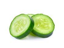 Fresh slice cucumber on white background. Fresh slice cucumber on a white background Royalty Free Stock Photography