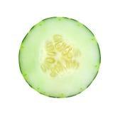 Fresh slice cucumber on white background. Fresh slice cucumber on a white background Royalty Free Stock Image
