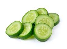 Fresh slice cucumber on white background. Fresh slice cucumber on a white background Royalty Free Stock Photos