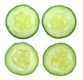 Fresh slice cucumber on white background. Fresh slice cucumber on a white background Royalty Free Stock Images