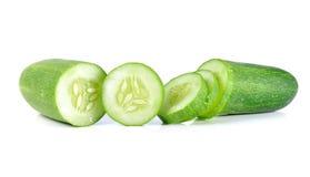 Fresh slice cucumber on white background.  Stock Images