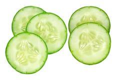 Fresh slice cucumber on white background.  Stock Photos