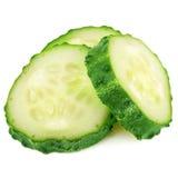 Fresh slice cucumber on white background Royalty Free Stock Photography