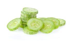 Fresh slice cucumber on white. Background Royalty Free Stock Photos