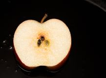 Fresh slice of fried apple Royalty Free Stock Images