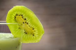 Fresh slice of kiwi Royalty Free Stock Photography